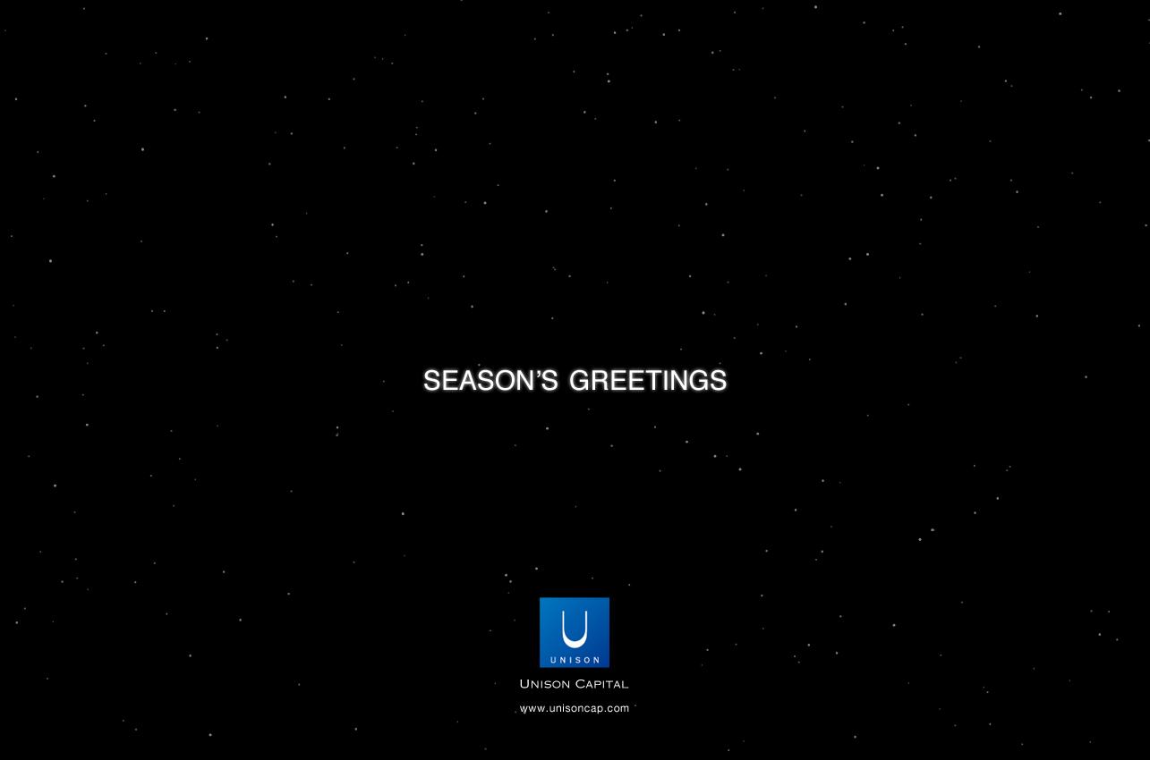ユニゾン・キャピタル 2011-2012シーズングリーティング ウェブサイト